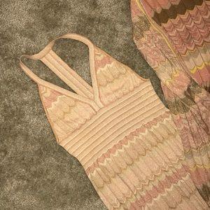 Maxi boho inspired dress and matching cardigan